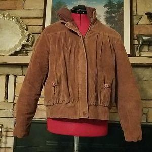 Vintage Andy Johns Corduroy Bomber Jacket
